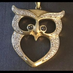 New Kevin Jewlers Owl Necklace Sterling Silver